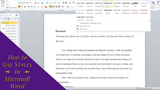How to Use Styles in Microsoft Word