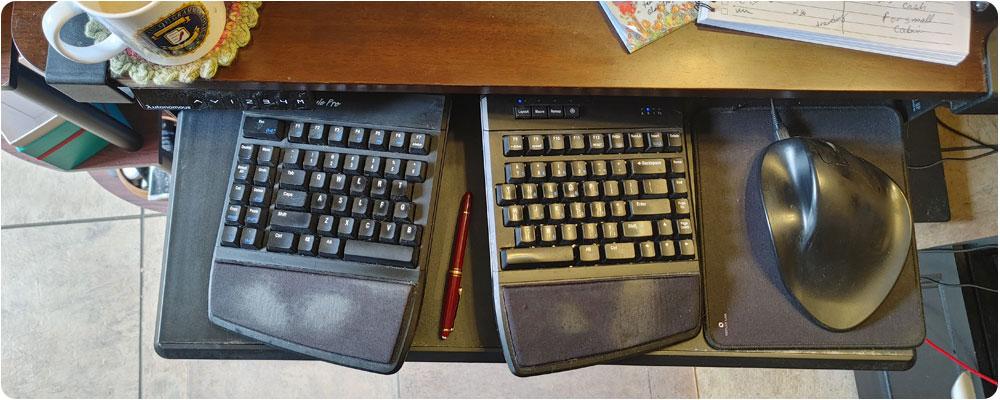 Ergonomic mouse and keyboard setup